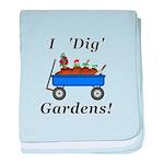 I Dig Gardens baby blanket