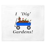 I Dig Gardens King Duvet