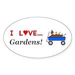 I Love Gardens Sticker (Oval 50 pk)