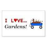 I Love Gardens Sticker (Rectangle 10 pk)