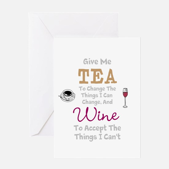 Tea and Wine Greeting Cards