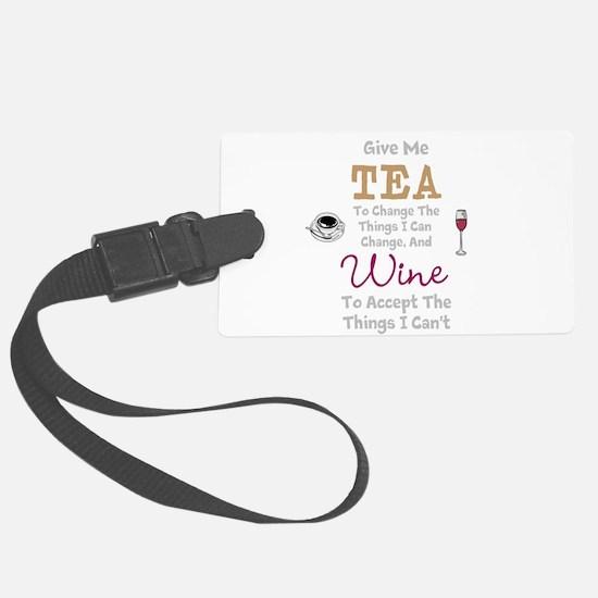 Tea and Wine Luggage Tag