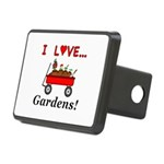 I Love Gardens Rectangular Hitch Cover