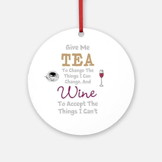 Tea and Wine Round Ornament