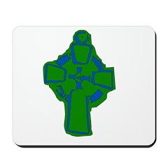 Emerald Green Celtic Cross Mousepad