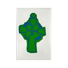 Emerald Green Celtic Cross Rectangle Magnet