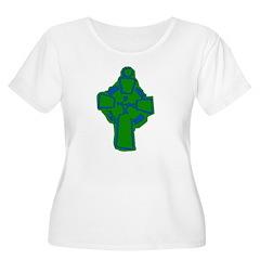 Emerald Green Celtic Cross T-Shirt