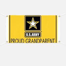 U.S. Army: Proud Grandparent (Gold) Banner