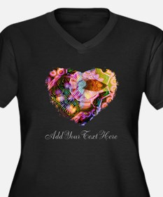 Wild Heart with Your Text Plus Size T-Shirt