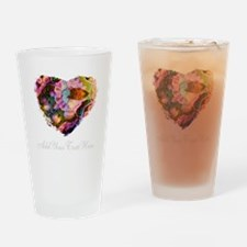 Wild Heart with Your Text Drinking Glass