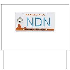 Navajo Nation NDN plate Yard Sign
