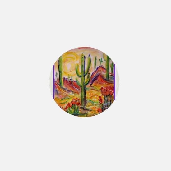 Saguaro Cactus, desert Southwest art! Mini Button