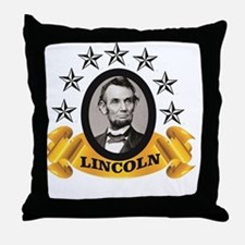 Cute Lincoln for president Throw Pillow