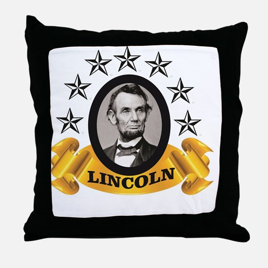Unique Abe Throw Pillow