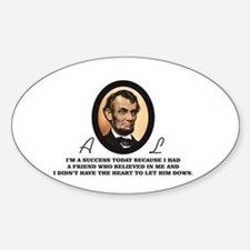 abe quote fun Decal