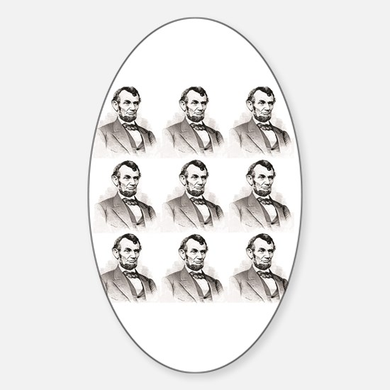 Cool Abe lincoln art Sticker (Oval)