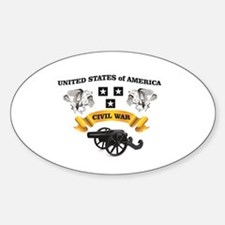 USA cannon CW badge Decal