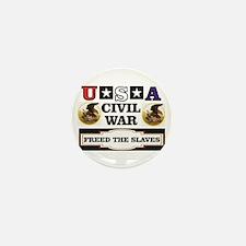USA civil war and freedom Mini Button