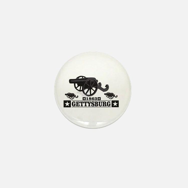 cannons of gettysburg Mini Button