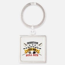 bull run confederate victory Keychains