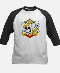 Davy Jones Locker Skull Kids Baseball Jersey
