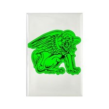 Green Griffin Rectangle Magnet