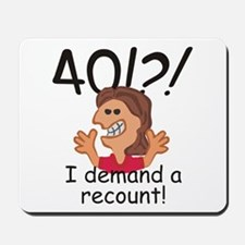 Recount 40th Birthday Red Mousepad
