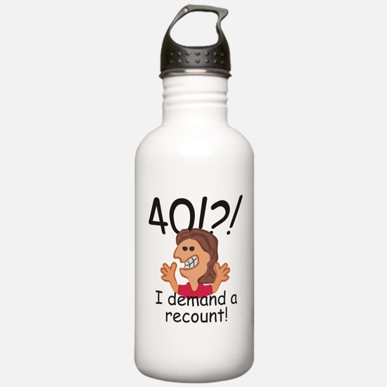 Recount 40th Birthday Red Water Bottle