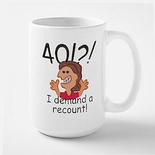 Recount 40th Birthday Red Mugs