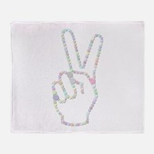 V Sign (Candies) Throw Blanket