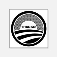 "Cute Obama nicknames Square Sticker 3"" x 3"""