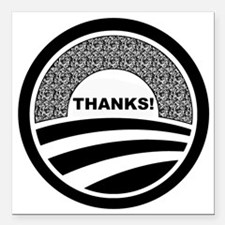 """Cute Obama supporters Square Car Magnet 3"""" x 3"""""""