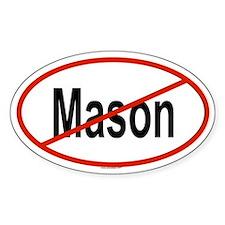 MASON Oval Decal