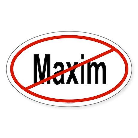 MAXIM Oval Sticker