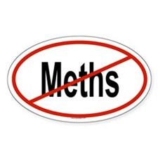 METHS Oval Decal