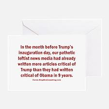 Fake News Media Greeting Card
