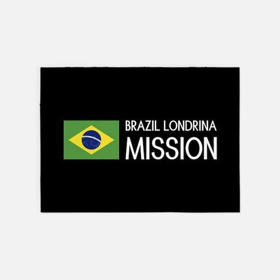 Brazil, Londrina Mission (Flag) 5'x7'Area Rug