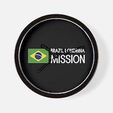 Brazil, Londrina Mission (Flag) Wall Clock
