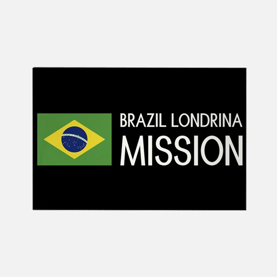 Brazil, Londrina Mission (Flag) Rectangle Magnet