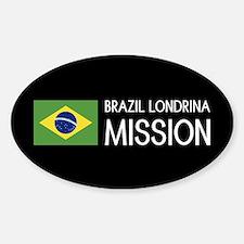 Brazil, Londrina Mission (Flag) Sticker (Oval)