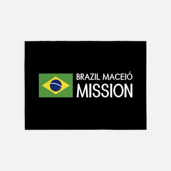 Brazil, Maceió Mission (Flag) 5'x7'Area Rug