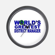 World's Greatest District Man Wall Clock