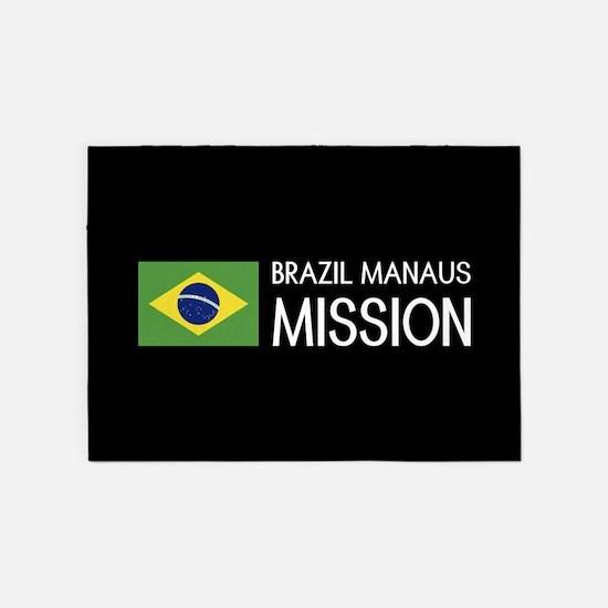 Brazil, Manaus Mission (Flag) 5'x7'Area Rug