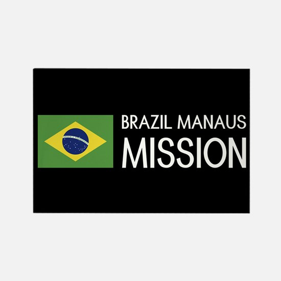 Brazil, Manaus Mission (Flag) Rectangle Magnet