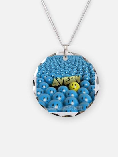 Unique Avery Necklace Circle Charm