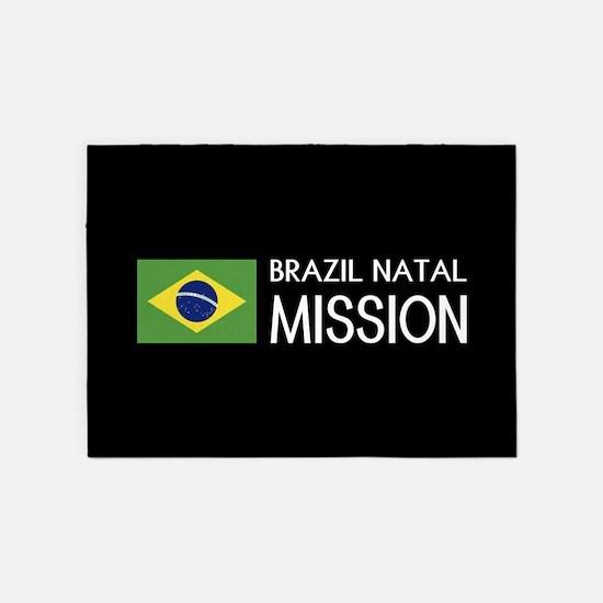 Brazil, Natal Mission (Flag) 5'x7'Area Rug