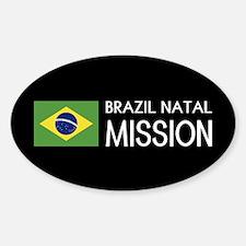 Brazil, Natal Mission (Flag) Sticker (Oval)