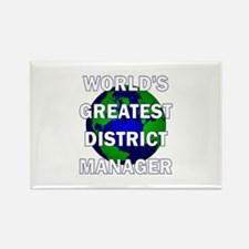 World's Greatest District Man Rectangle Magnet