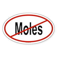 MOLES Oval Bumper Stickers