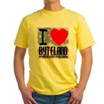 I Love Byteland Yellow T-Shirt